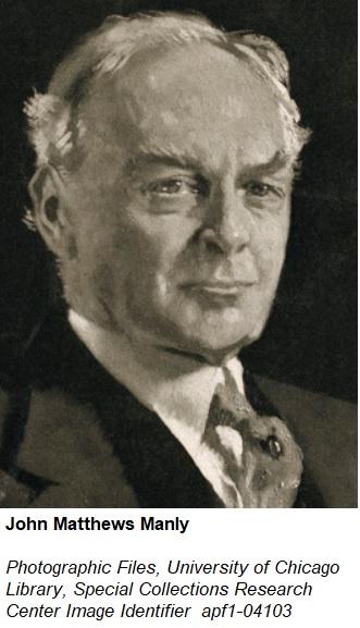 detail portrait of John Matthews Manly