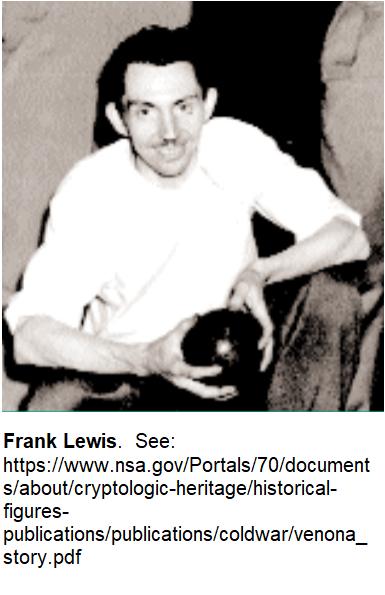 Frank Lewis re Friedman and FSG Voynich
