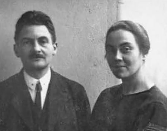 Friz Saxl and his wife