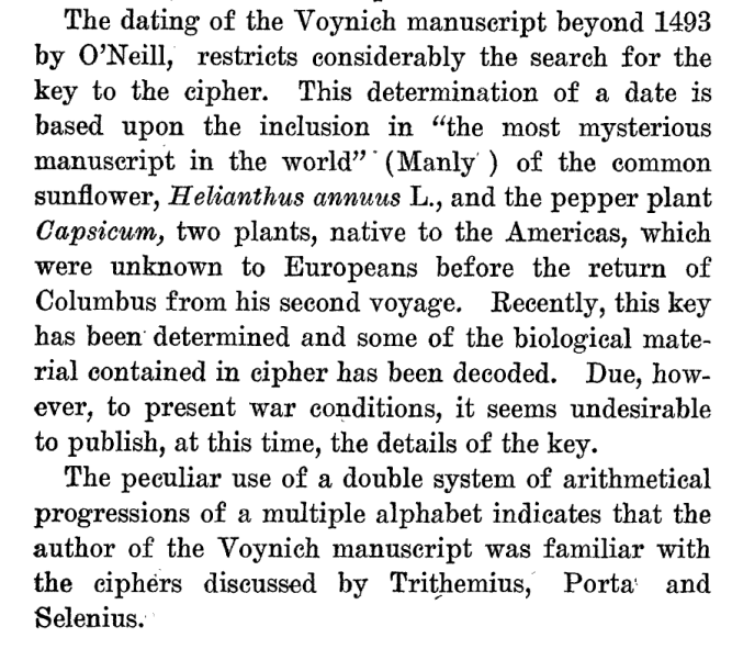 Strong on the Voynich