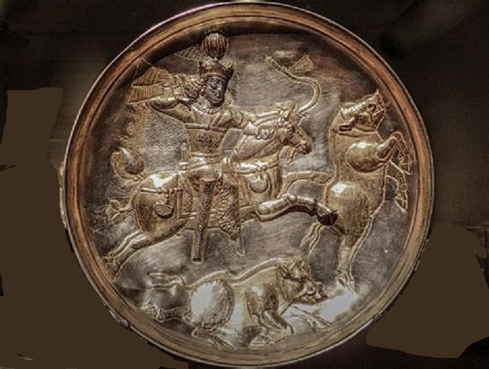 Sasanian hunt with trophy.